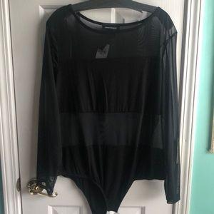 Sheer black onesie